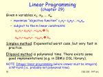 linear programming chapter 29