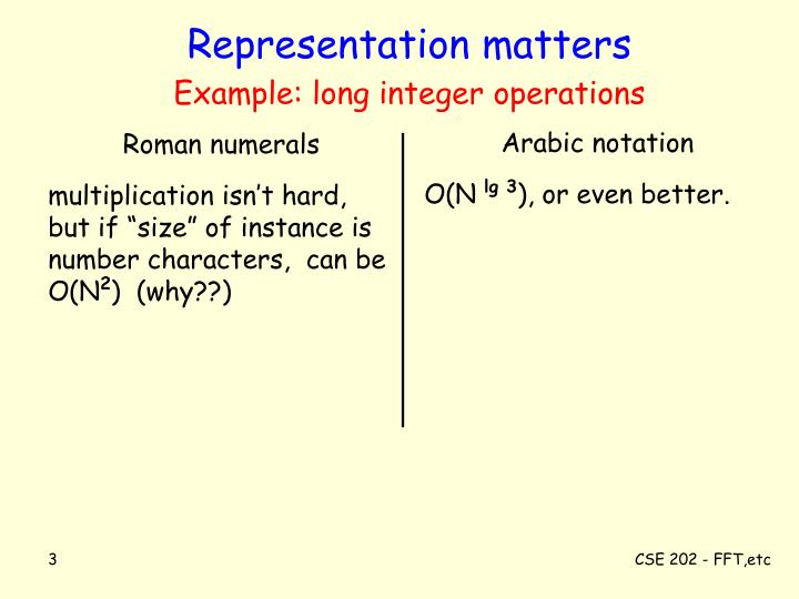 Representation matters example long integer operations l.jpg
