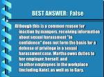 best answer false54