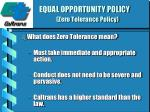 equal opportunity policy zero tolerance policy