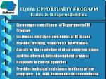 equal opportunity program roles responsibilities