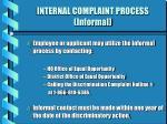 internal complaint process informal44
