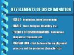 key elements of discrimination