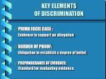 key elements of discrimination12