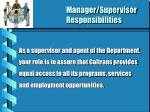 manager supervisor responsibilities