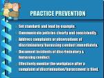 practice prevention