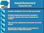sexual harassment deputy directive