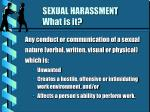 sexual harassment what is it