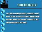 true or false18