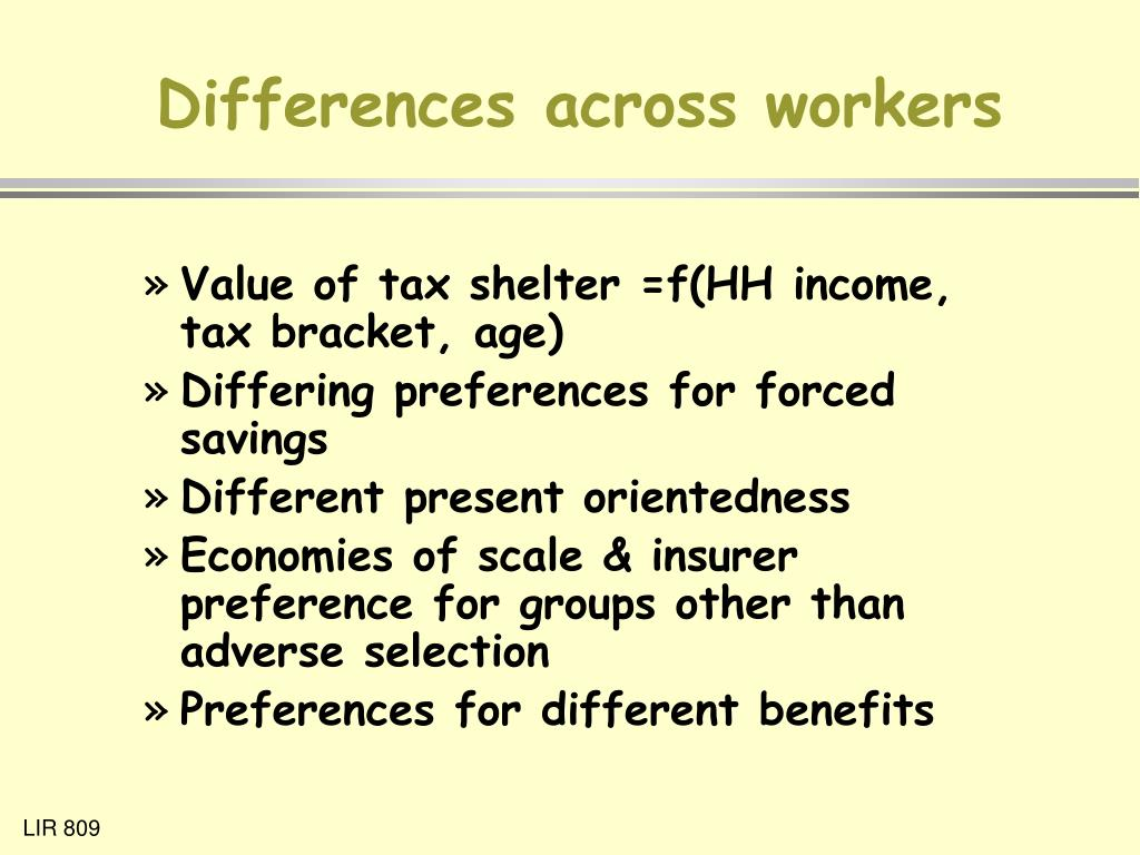 Differences across workers
