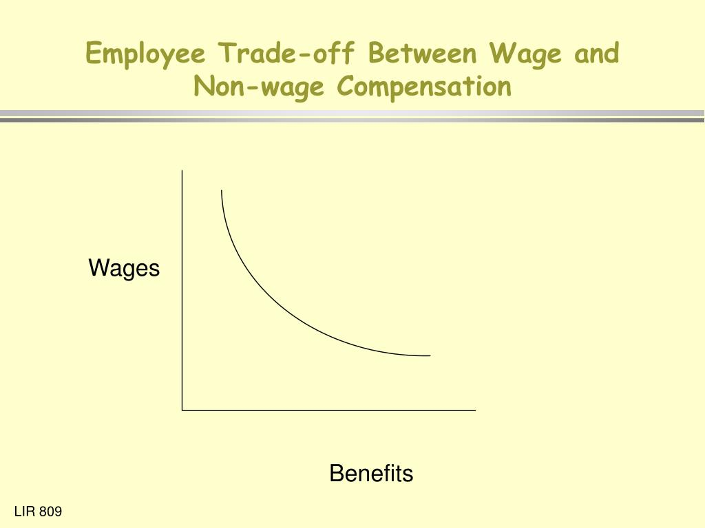 Employee Trade-off Between Wage and Non-wage Compensation