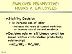 employer perspective hours v employees