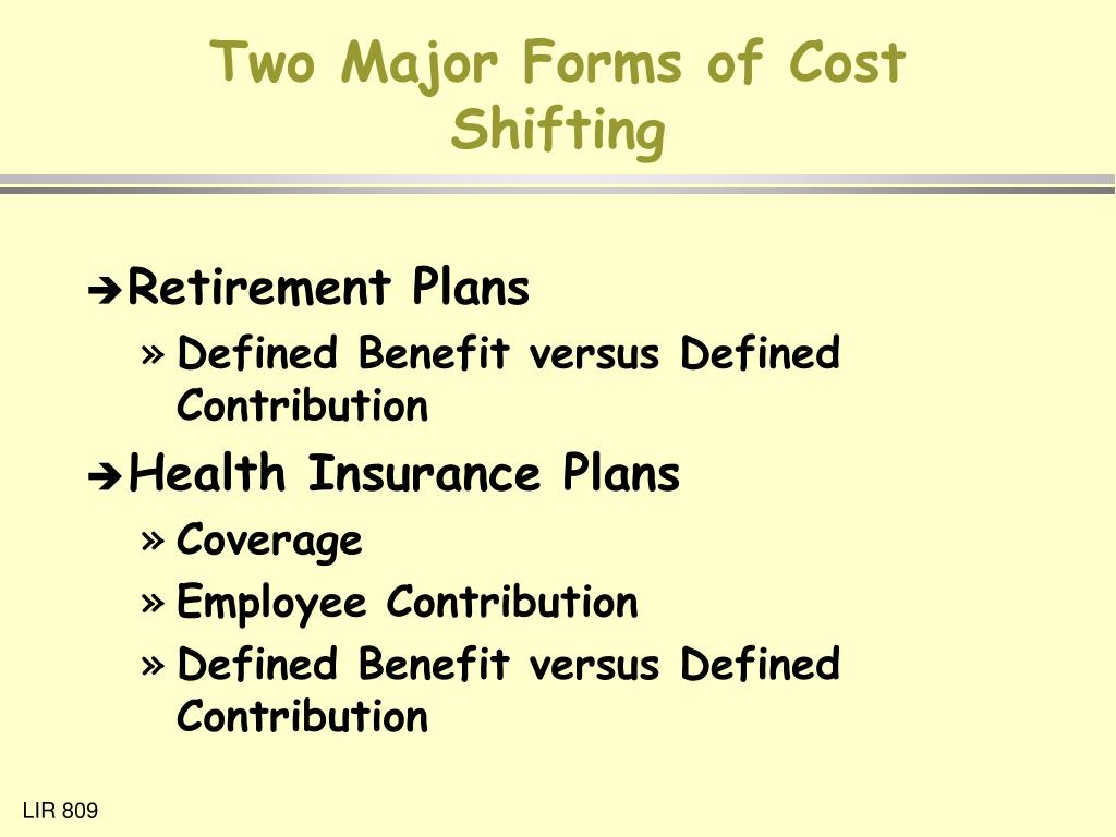 Two Major Forms of Cost Shifting