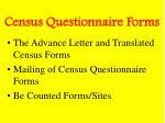 census questionnaire forms