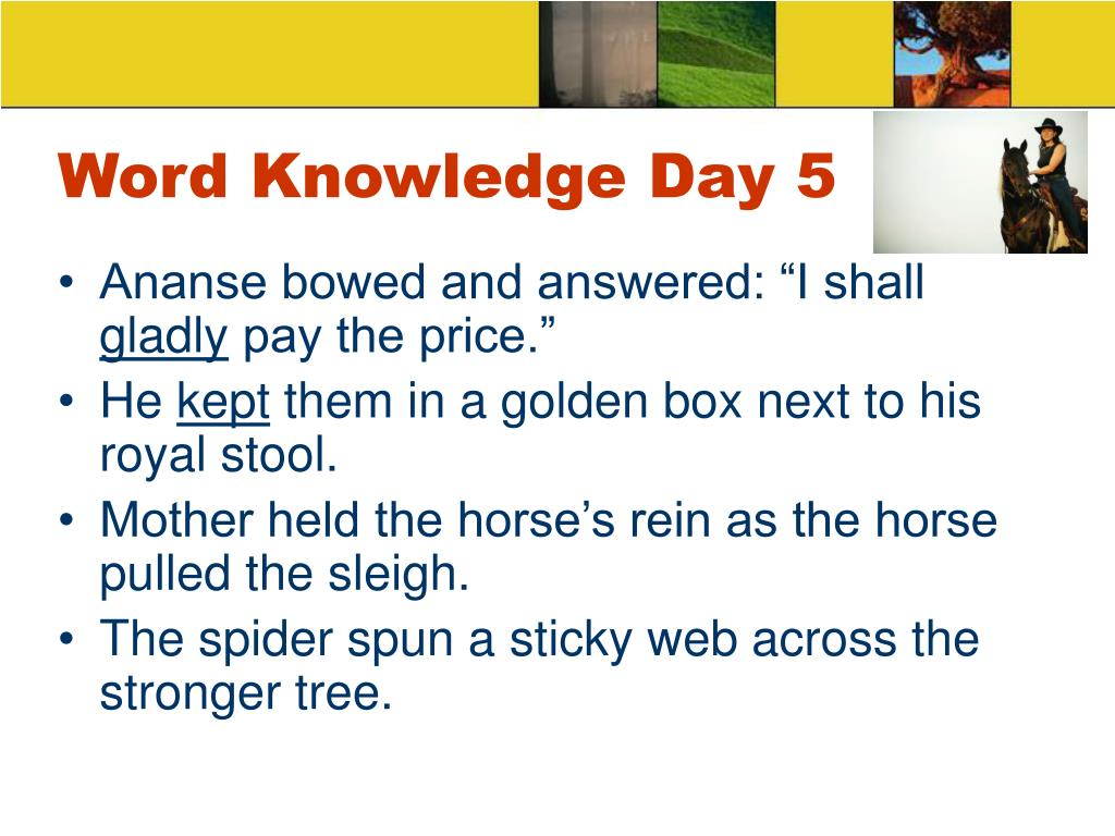 Word Knowledge Day 5