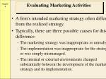 evaluating marketing activities
