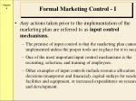 formal marketing control i