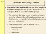 informal marketing controls