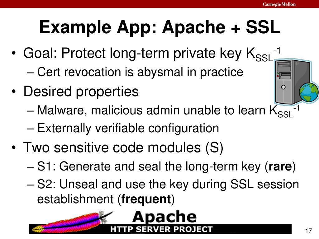 Example App: Apache + SSL