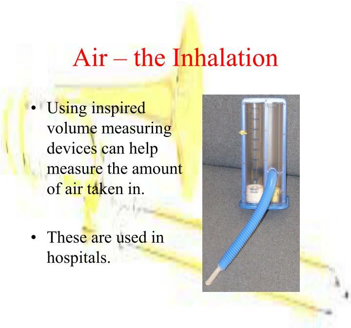 Air – the Inhalation