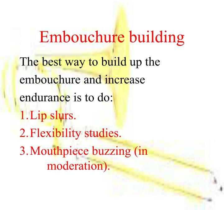 Embouchure building