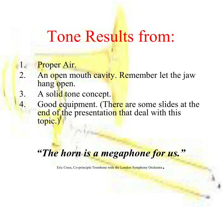 Tone Results from: