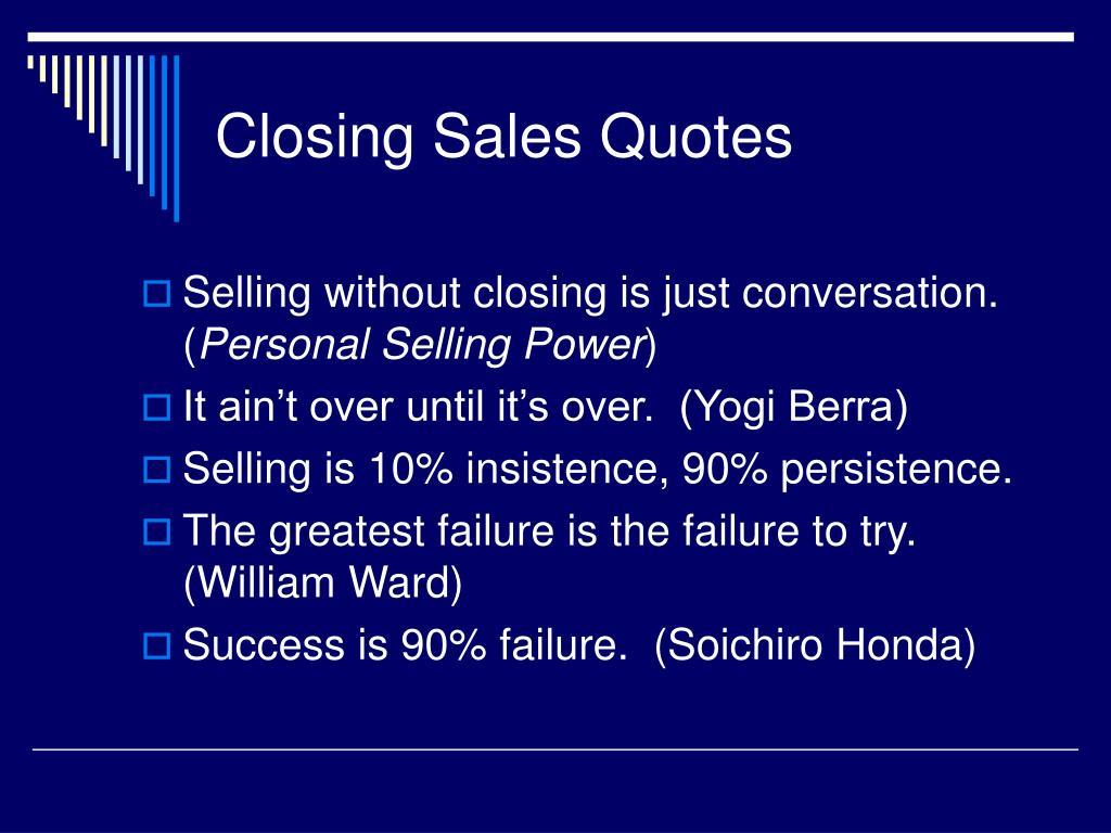 Closing Sales Quotes