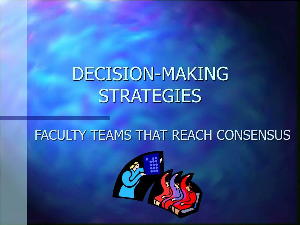 decision making strategies