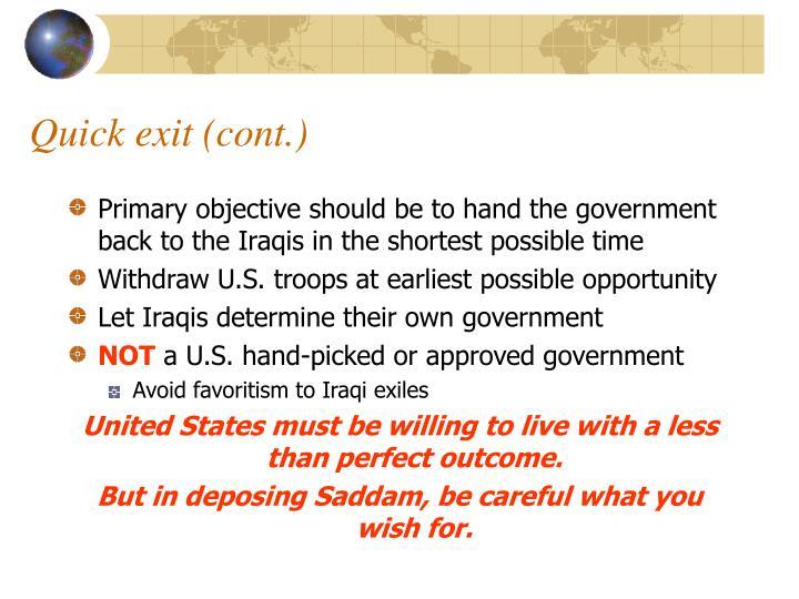 Quick exit (cont.)