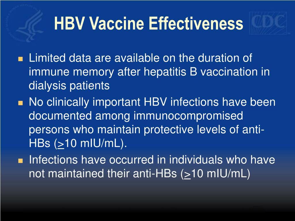 HBV Vaccine Effectiveness