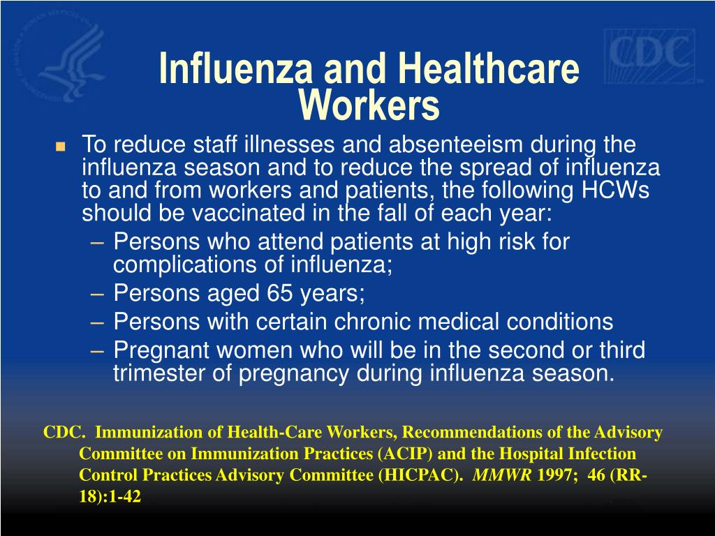 Influenza and Healthcare Workers