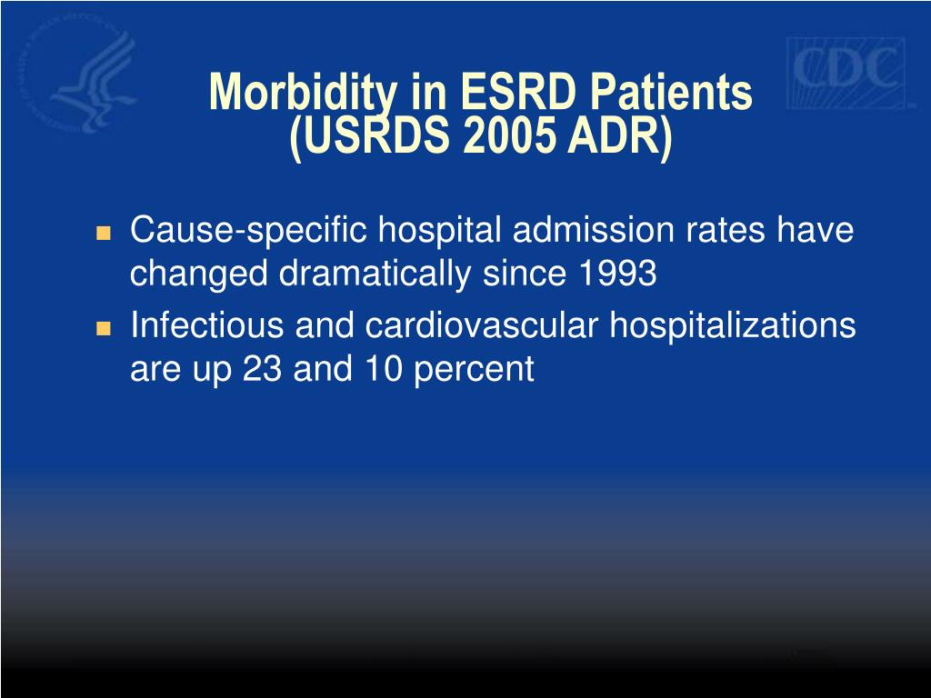 Morbidity in ESRD Patients (USRDS 2005 ADR)