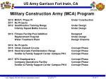 military construction army mca program