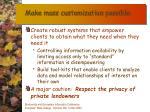 make mass customization possible