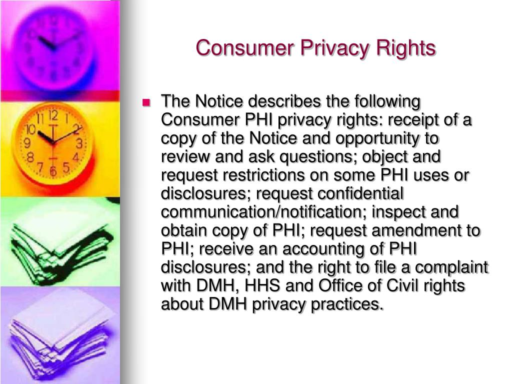 Consumer Privacy Rights