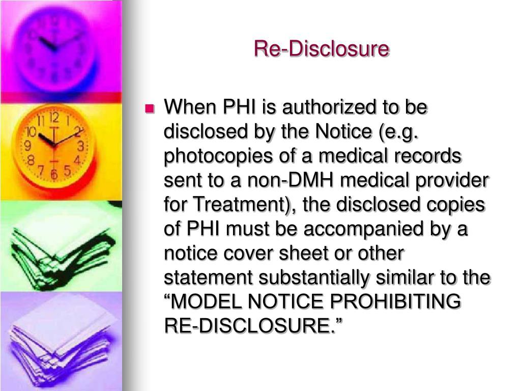 Re-Disclosure