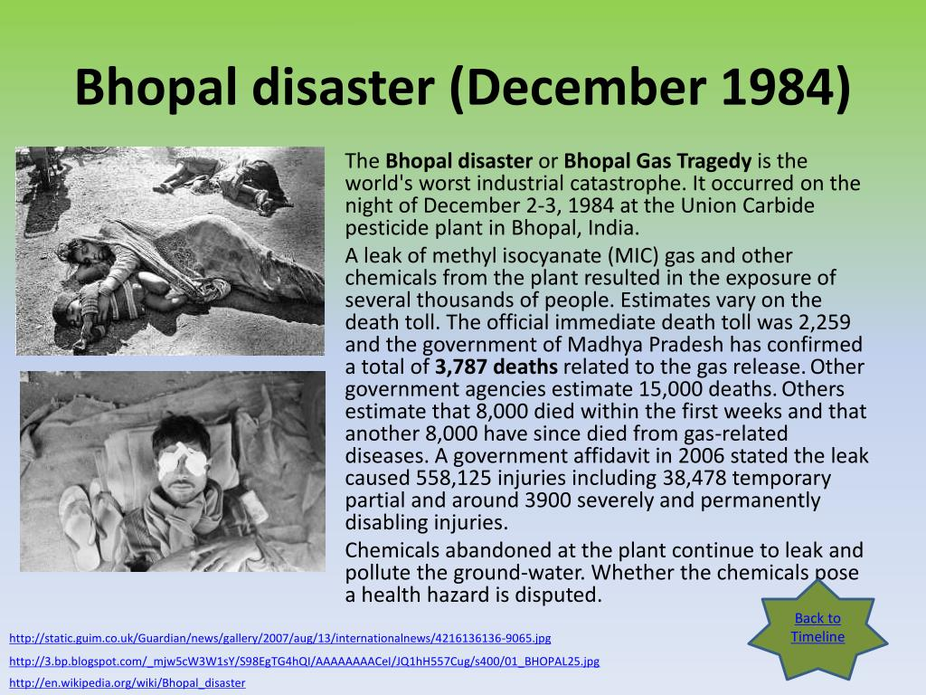 Bhopal disaster (December 1984)