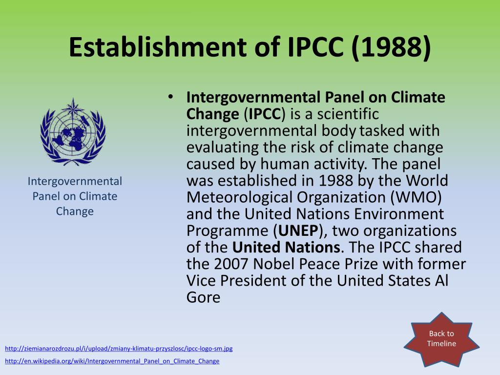 Establishment of IPCC (1988)