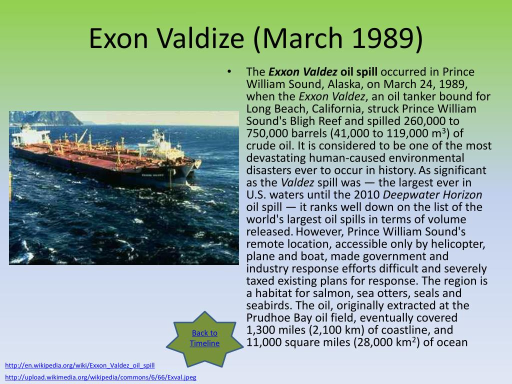 Exon Valdize (March 1989)