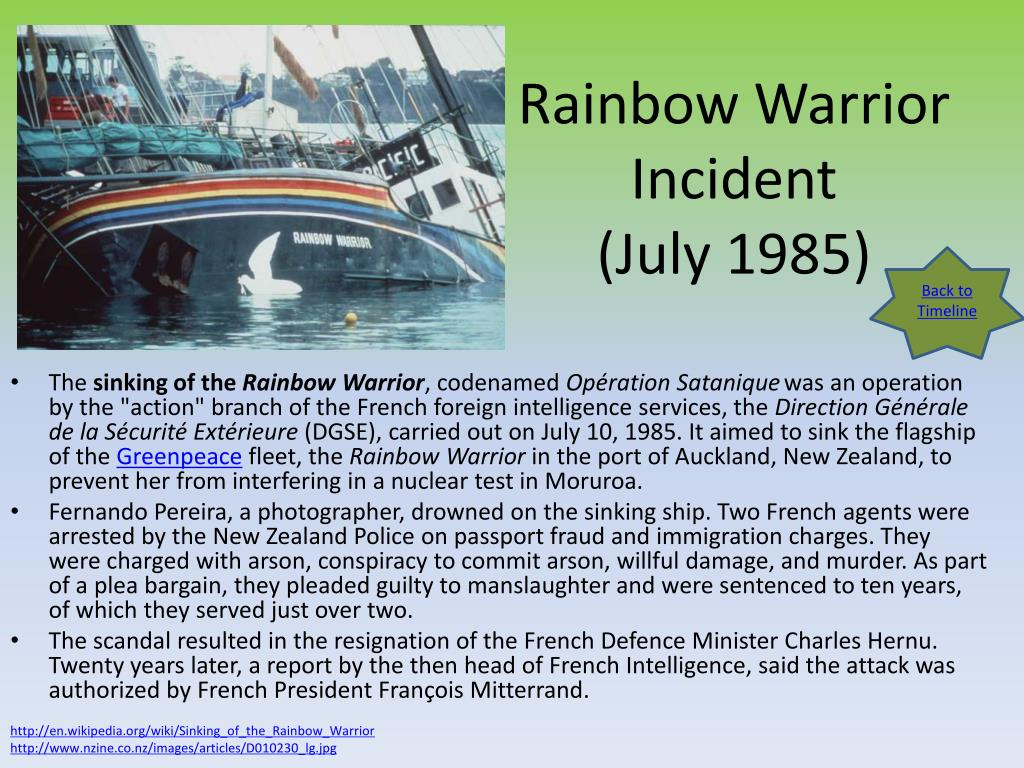 Rainbow Warrior Incident