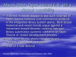 march 2002 open source ils still a distant possibility