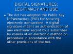 digital signatures legitimacy and use