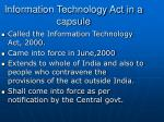 information technology act in a capsule