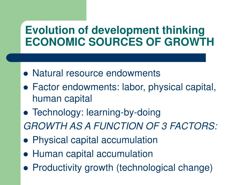 Evolution of development thinking