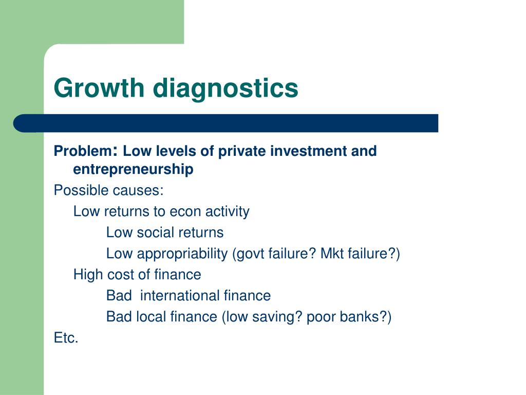 Growth diagnostics