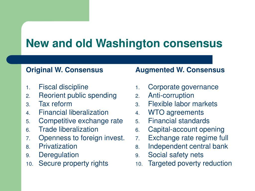 Original W. Consensus