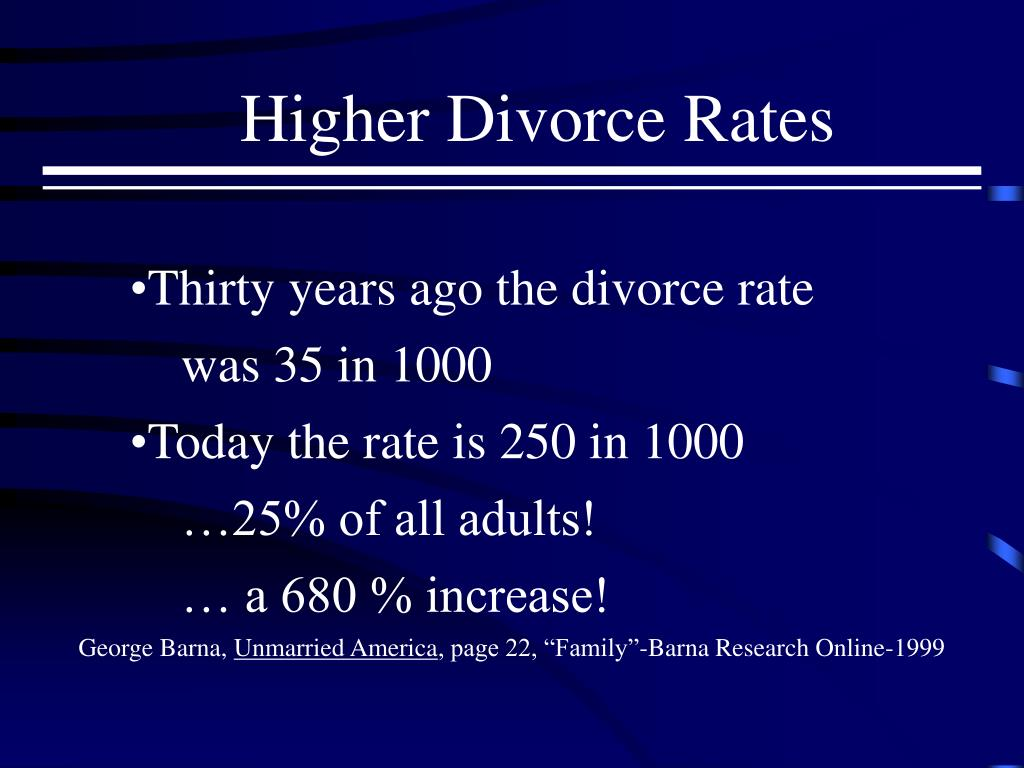 Higher Divorce Rates