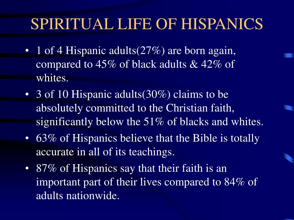 SPIRITUAL LIFE OF HISPANICS