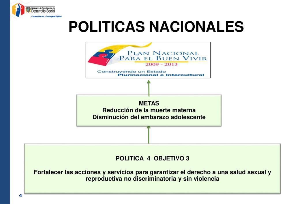 POLITICAS NACIONALES