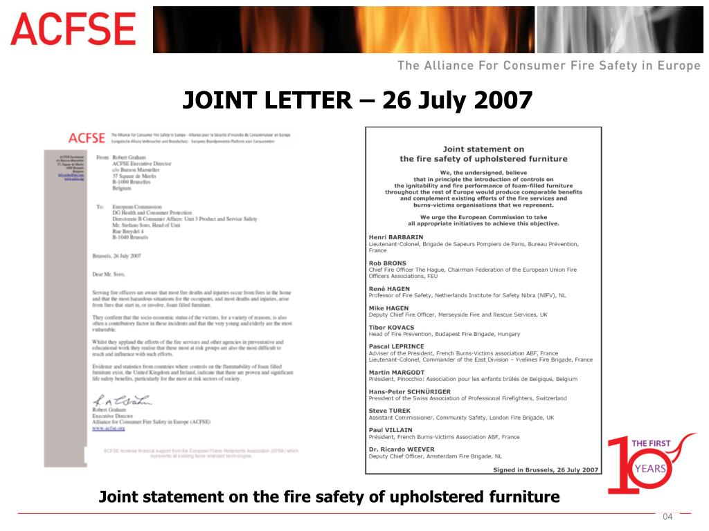 JOINT LETTER – 26 July 2007